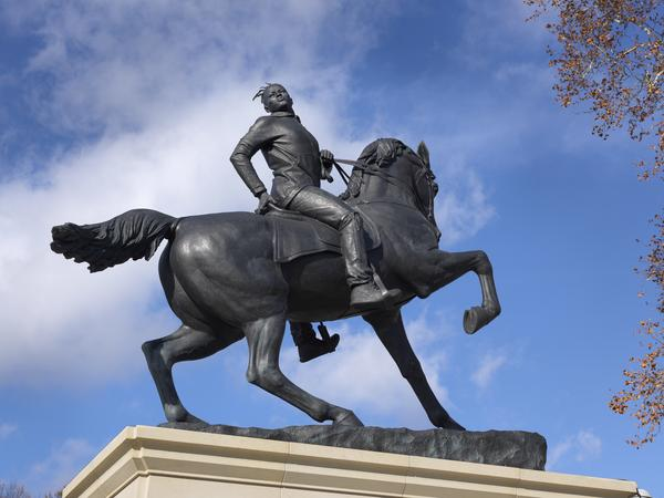 Kehinde Wiley created <em>Rumors of War</em> in response to the line of Confederate statues on Monument Avenue in Richmond, Va.