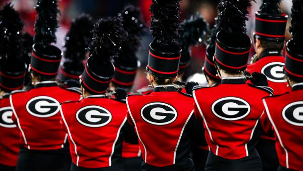"The University of Georgia's marching band, seen during a football game last November in Athens. The band's acting director, Brett Bawcum, announced that it would no longer play <em></em>""Tara's Theme"" from <em>Gone with the Wind.</em> The film has attracted criticism for its depiction of race."