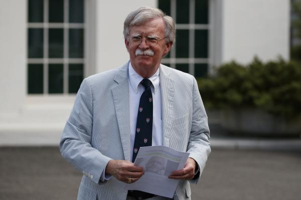 Then-national security adviser John Bolton at the White House in July 2019. Bolton received a reported $2 million advance for his book about his time in the Trump administration, but a judge has raised the possibility that he may not be able to keep it.