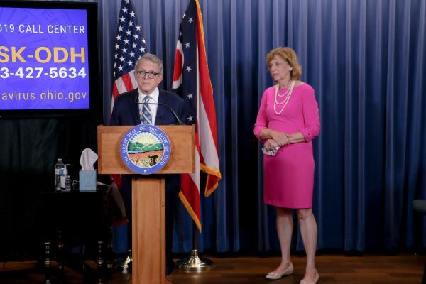 Gov. Mike DeWine (R-Ohio) and First Lady Fran DeWine