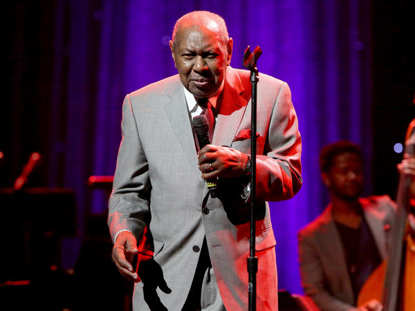 Freddy Cole performs onstage during the Thelonious Monk Institute International Jazz Vocals Competition in 2015.