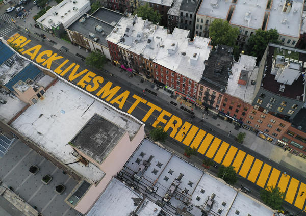 """Black Lives Matter"" has already been added to Fulton Street in Brooklyn. Manhattan may be next up in New York City, but President Trump has denounced a plan to have the words painted on Fifth Avenue."