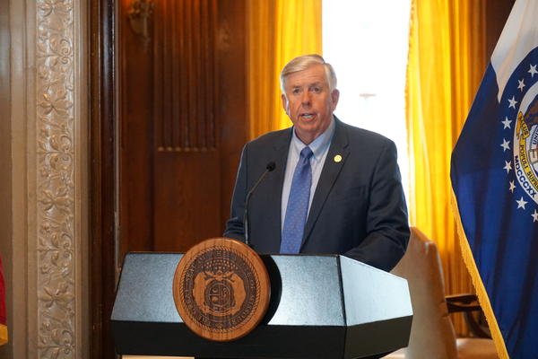 Gov. Mike Parson signed the state budget on Tuesday, but withheld $448 million in planned spending due to the economic effects of the coronavirus.