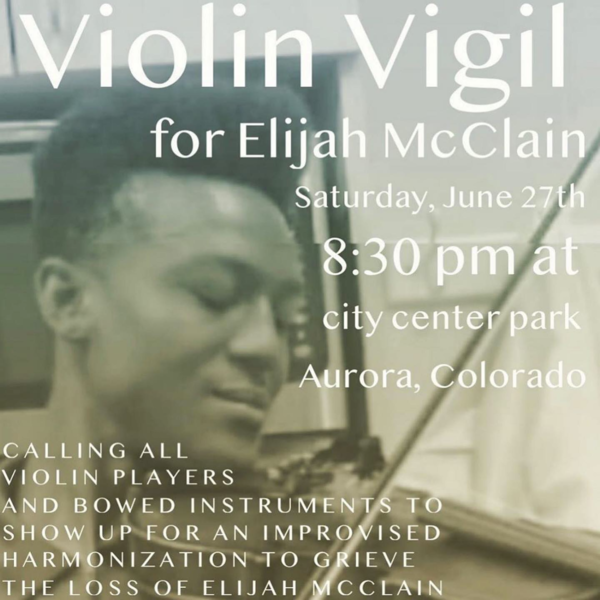 A poster shared by violinist Ashanti Floyd and others ahead of the violin vigil last Saturday.