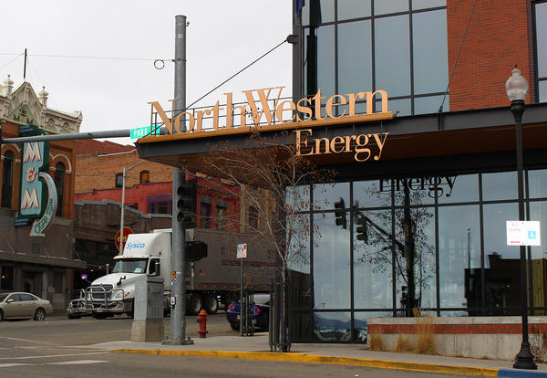 The outside of the NorthWestern Energy building in Butte, Montana.