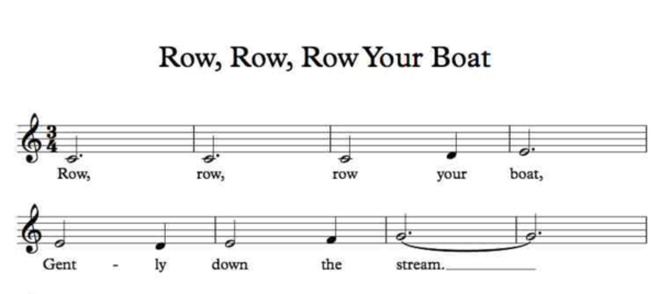 """""""Row, Row, Row Your Boat"""" is one of the melodies Amy Belfi tested to create a list of music that brain researchers can use."""