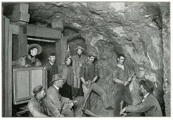 Miners in Butte, Montana, photographed in 1900. Butte and other parts of the Mountain West have a proud Irish history. But the myth spreading on far-right corners of social media that white Irish were once enslaved in the Americas is false.