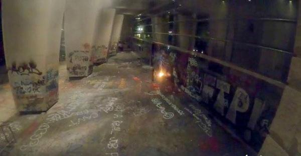 <p>Portland police said protesters set off fireworks at the downtown federal courthouse overnight Thursday, July 2, into Friday, July 3. The courthouse has been covered in graffiti for weeks, amid nightly protests against police brutality and racial injustice.</p>