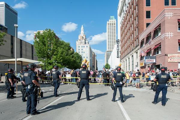 Scenes outside President Trump's rally in Tulsa, Okla. on Saturday, June 20, 2020.