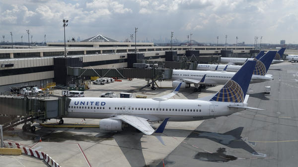 United Airlines planes at Newark Liberty International Airport in Newark, N.J. Company executives call the COVID-19 pandemic the worst crisis in the airline's history.
