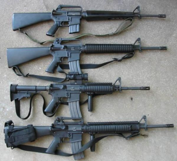 M16 Rifles like these are often acquired by college and university police departments through the 1033 program administered by the Defense Logistics Agency.