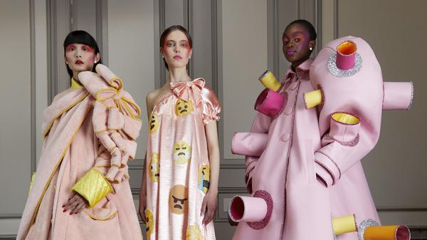 """The """"Confusion"""" mini-wardrobe, designed to express the conflicting feelings sparked by social media."""