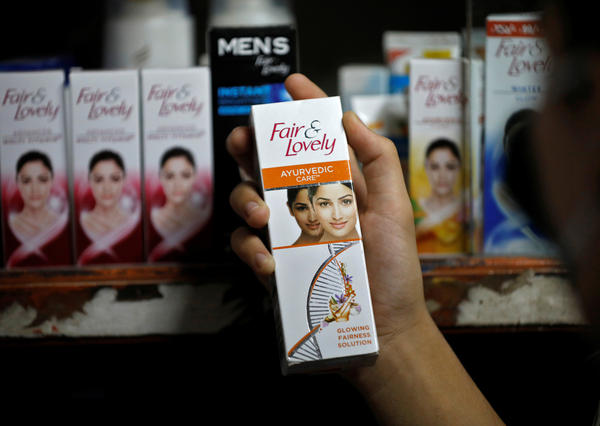 A package of Fair & Lovely skin-lightening cream at a shop in India. In response to calls for racial justice around the world, the product name is being changed to Glow & Lovely.