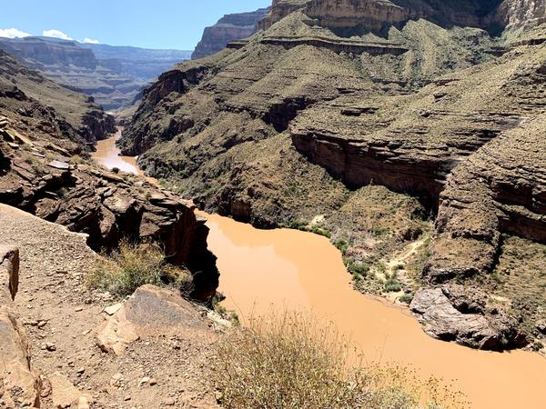 Scientists have been studying the Colorado River, shown here from above Deer Creek Falls, for nearly four decades to understand the environmental impacts of the Glen Canyon Dam on a water source used by around 40 million people in seven states.