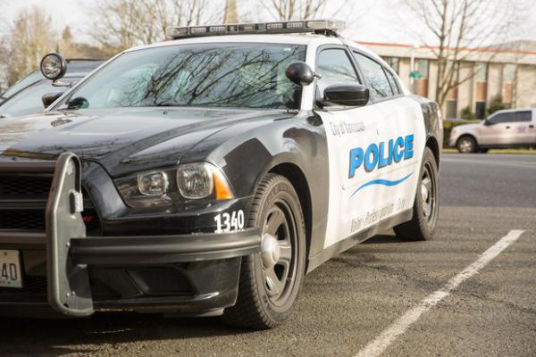 <p>A Vancouver police car is pictured March 14, 2019, in Vancouver, Wash.</p>