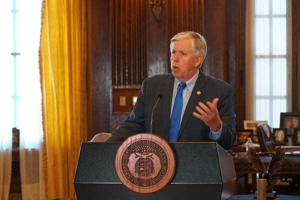 Gov. Mike Parson announced he will allocate $125 million in federal coronavirus relief funds to higher education and job training on Thursday.