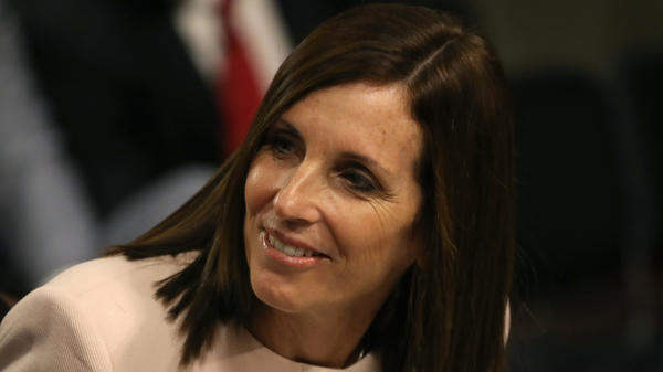 Republican Sen. Martha McSally, seen here in 2019, is losing the money race to her challenger in Arizona, Democrat Mark Kelly.