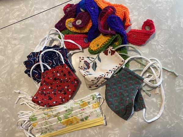Masks sewn by Sew-hio