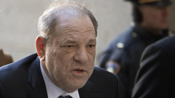 Harvey Weinstein arrives at a Manhattan court on Feb. 21, 2020, during jury deliberations in his rape trial in New York. Weinstein was found guilty and is serving a 23-year sentence for sexually assaulting one woman and raping another. He is appealing the verdict while also facing rape and sexual assault charges in Los Angeles.