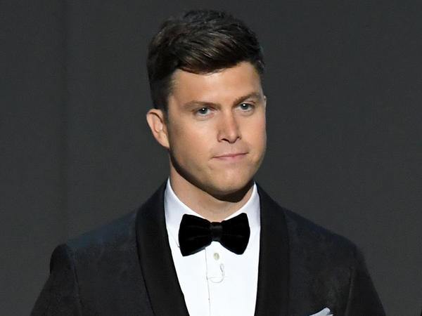 "Colin Jost, here in 2018, first joined <em>Saturday Night Live</em> as a writer 15 years ago. ""It's a world that I love so much,"" he says of the show."