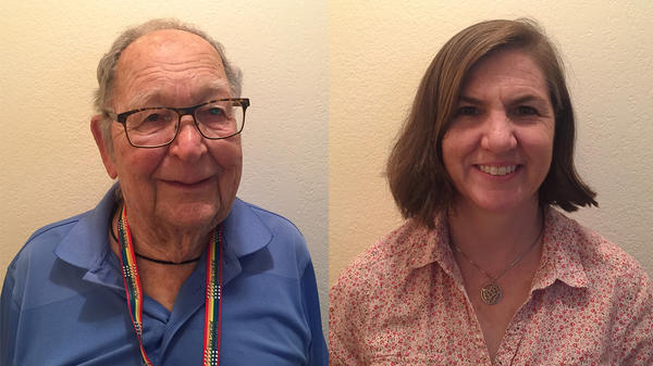 Kenneth Felts and his daughter, Rebecca Mayes, spoke about Felts' first love during a remote StoryCorps conversation in Arvada, Colo.