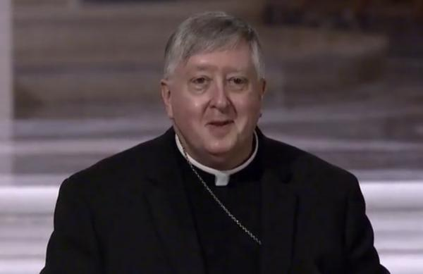 Mitchell Rozanski during a press conference introducing him as archbishop of St. Louis.