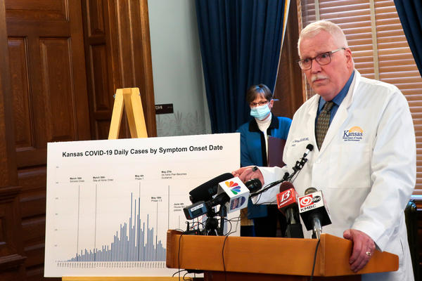 Dr. Lee Norman, secretary of the Kansas Department of Health and Environment, discussed the resurgence in coronavirus cases in the state this week. The state hospital association fears there will be delays in getting coronavirus data under new federal rules.