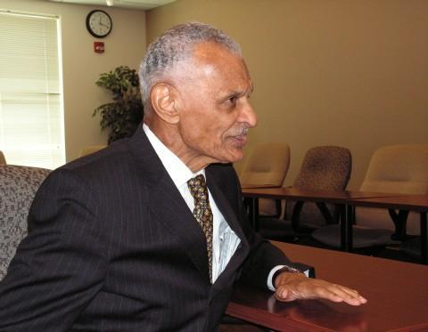 C.T. Vivian during a trip to Macomb and WIU in 2012