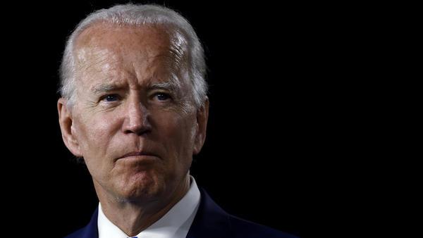 Presumptive Democratic presidential nominee Joe Biden is seen on July 14.