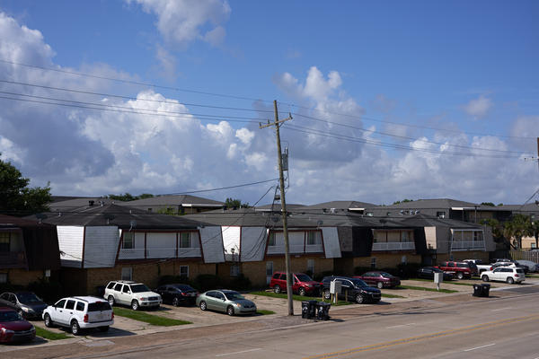 Homes in New Orleans East. May 2020.