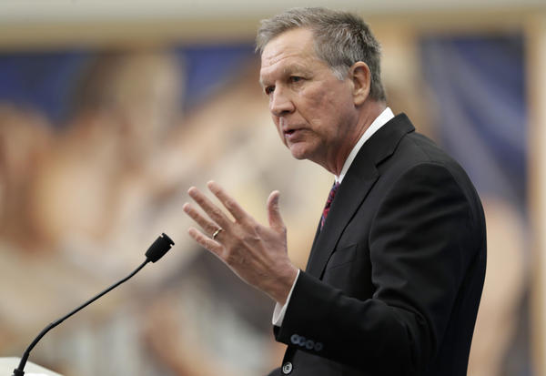 John Kasich speaks at The City Club of Cleveland, Tuesday, Dec. 4, 2018.