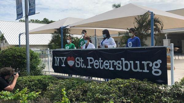 New York Gov. Andrew Cuomo is sending personal protective equipment, coronavirus test kits and a team of people to help set up a new testing site in St. Petersburg.