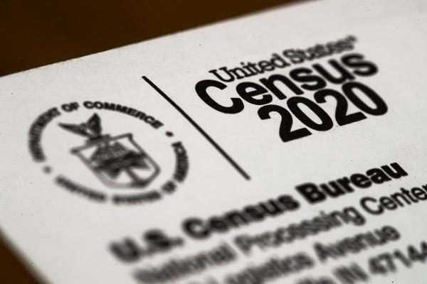Shown is an envelope containing a 2020 census letter.