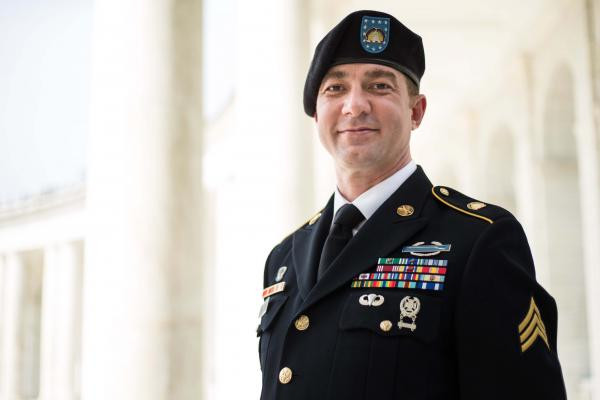 Army National Guard Sgt. Nick Harrison is one of several service members challenging the military policy that prevents HIV positive troops from deploying or becoming officers.