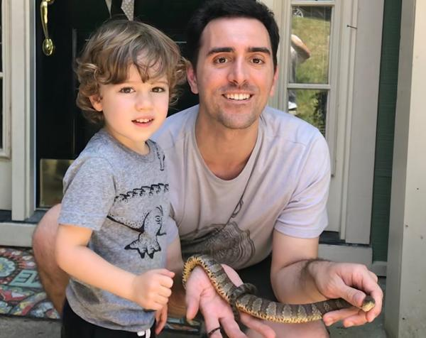 Nick Massimo puts his herpetological skills to use by offering snake identification and removal for his neighbors in Durham.