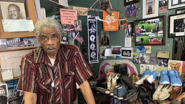 The COVID-19 pandemic almost forced Tommy Rhine to shut down his shoe repair business in downtown Denver after four decades.