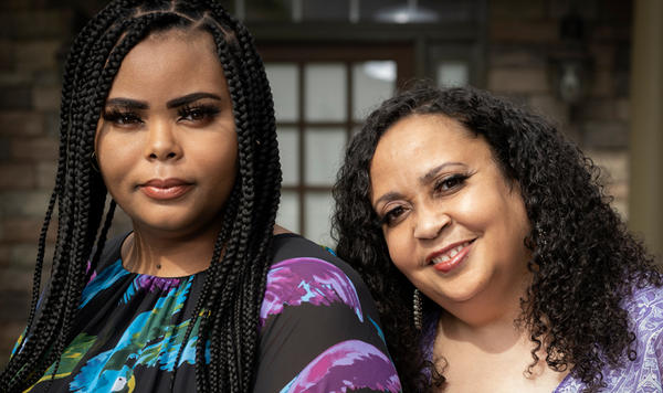 Last month, Nia Cosby, left, and her mother Chalana McFarland spent their first weekend together in 15 years at McFarland's home in Marietta, Ga., after she was released from a Florida prison.
