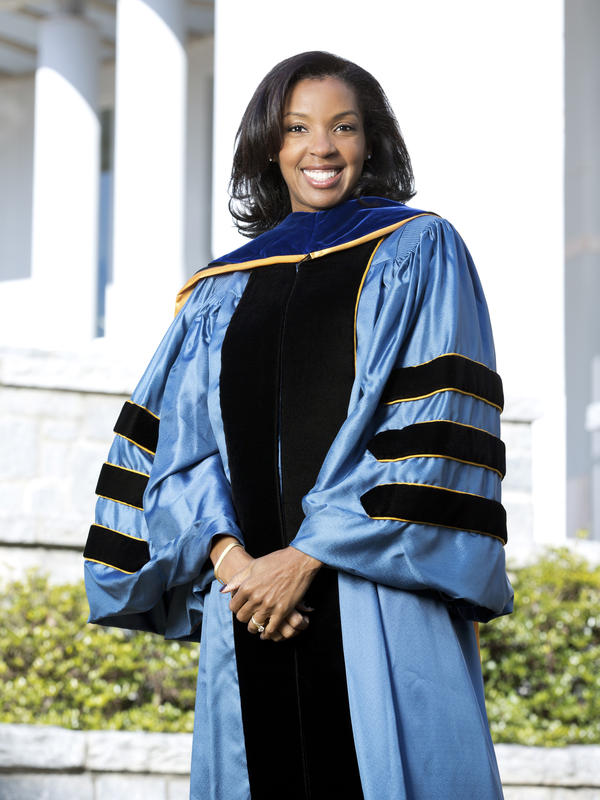 Erika James was named as Wharton School of Business at the University of Pennsylvania's 15th dean in February and officially started the job earlier this month. She is the first woman and person of color in the position.