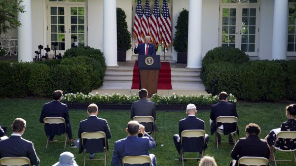 President Trump like his predecessors, often uses the Rose Garden for ceremonies and news conferences.