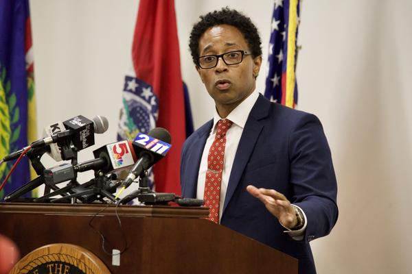 St. Louis County Prosecutor Wesley Bell announces he will not charge former Ferguson police officer Darren Wilson, who shot and killed 18-year-old Michael Brown in Aug. of 2014.