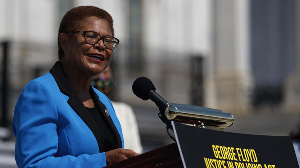 California Rep. Karen Bass was catapulted onto the national stage leading Democrats on police reform. Now she is a contender to be Joe Biden's running mate.