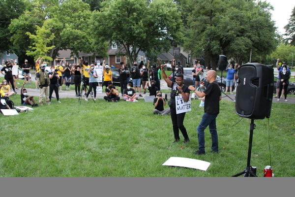 The State Line March started with speeches at Weltner Park Saturday, August 1, 2020.