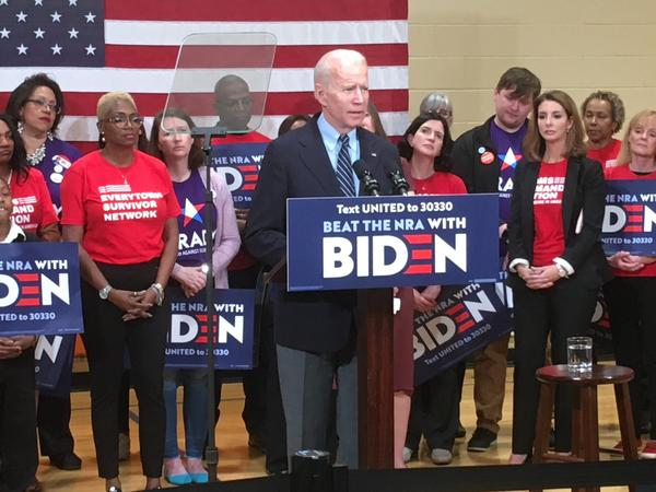 Joe Biden did a campaign stop in Columbus in March, a few weeks before COVID-19 shutdowns began.