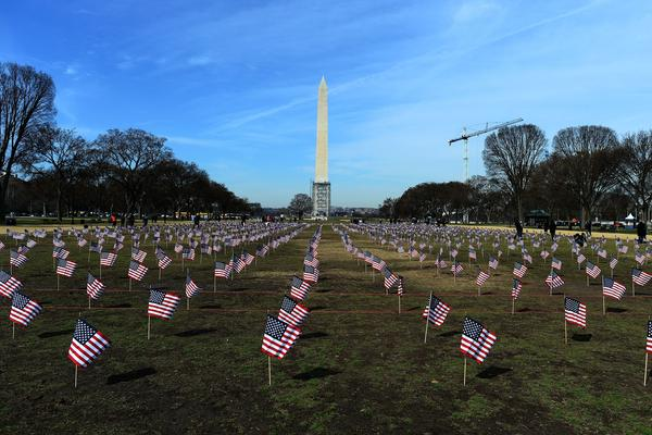 "Some 1,892 American flags are installed on the National Mall in Washington, DC in 2014. The Iraq and Afghanistan veterans installed the flags to represent the 1,892 veterans and service members who committed suicide this year as part of the ""We've Got Your Back: IAVA's Campaign to Combat Suicide."""