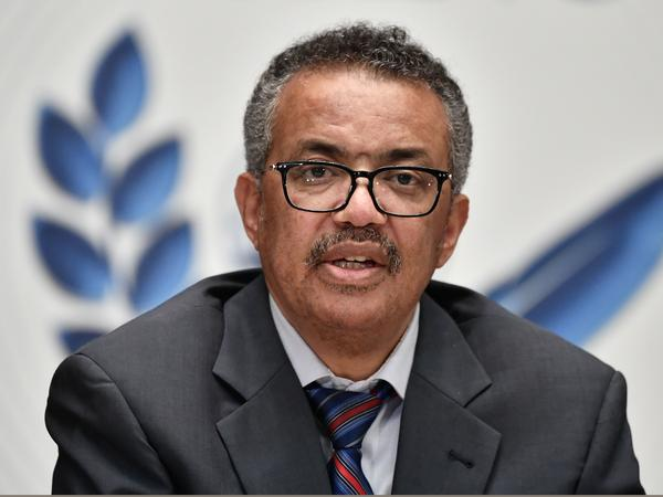 "World Health Organization Director-General Tedros Adhanom Ghebreyesus says that while some COVID-19 vaccine candidates have progressed to phase three testing, the world must remain reliant on ""the basics"" of disease control. Tedros is seen here last month in Geneva."