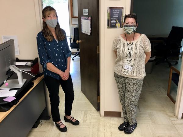 After commissioners in Ravalli County, Mont., said they would not enforce the state's recent mask mandate, public health officer Carole Calderwood (left) submitted her letter of resignation.