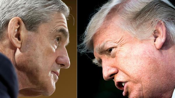 "Robert Mueller (left) ""gave the president a free pass effectively on the fact that he repeatedly committed obstruction of justice,"" legal analyst Jeffrey Toobin says."