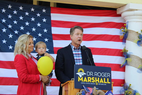 U.S. Rep. Roger Marshall campaigns in 2019 for the Republican nomination for a U.S. Senate seat.