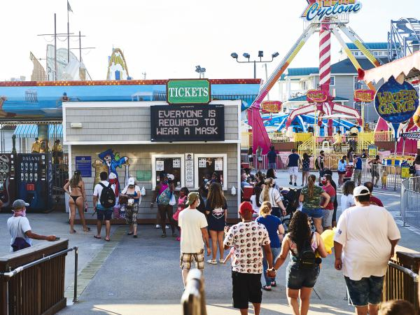 Playland's Castaway Cove amusement park in Ocean City, N.J., is one of many places across the country requiring face coverings to slow the spread of COVID-19.