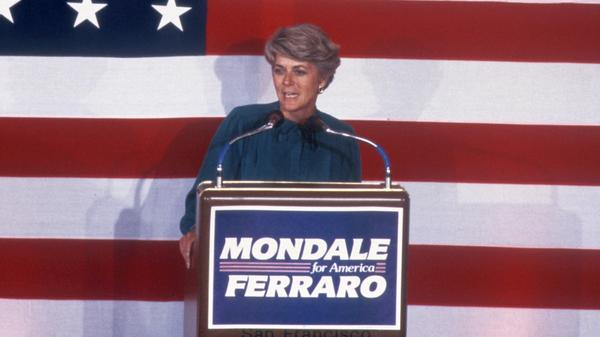 Geraldine Ferraro joined Democrat Walter Mondale's 1984 presidential campaign when he was trailing President Reagan badly in the polls.